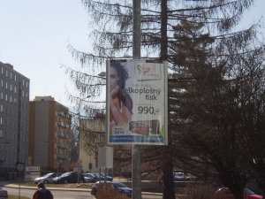 ukázka reklamního panelu Horizont