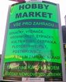 ukázka reklamního panelu Hobby Market