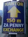ukázka reklamního panelu Směnárna Jeseník