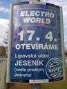 ukázka reklamního panelu Horizont - Elektroworld