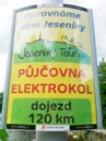 ukázka reklamního panelu Horizont - Jeseníky Tour